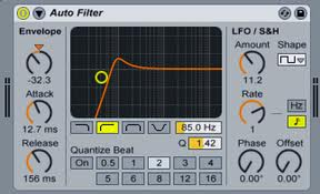Ableton Lowpass Filter