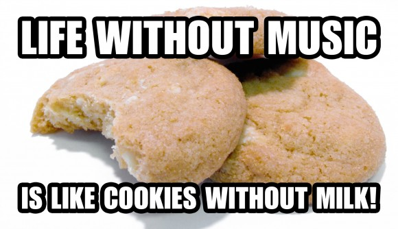 Life without music is like cookies without milk!